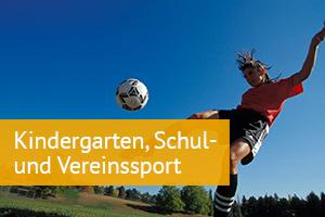 Kindergarten, Schul- und Vereinssport